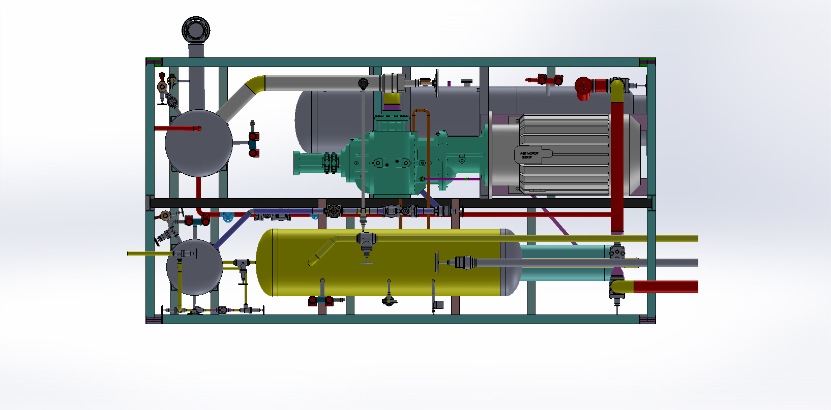 Refpack System With Screw Or Reciprocating Compressor Indusref Receivers Refrigeration Wiring Diagrams Heated Customer Supplies The Cooling Tower Per Heat Of Rejection And Water Conditions Specified